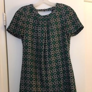 J Crew Green and Pink Dress Size 2